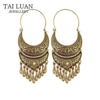 New Design Oxidized Gold Ethnic Indian Jhumka Earring For Women