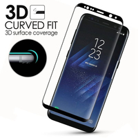 IKF 2018 Case Friendly Galaxy S8 Tempered Glass Screen Protector 3D Curved full cover For Samsung s8