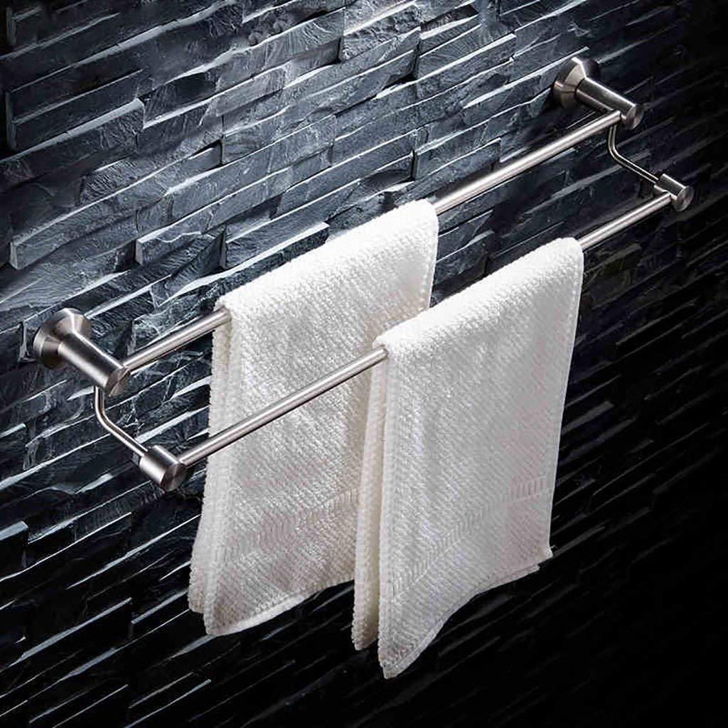 EQEQ Bath Room Towel Rack Towel Rack Bath Rooms, The Stainless Steel Towel Rail 304 Stainless Steel Double Wire Drawing Towel Racks Bath Rooms Towel Rails Perforated Towel Storage Rack (Size: 70 cm).
