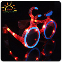 2016 new fashion Bicycle shapedsunglasses wiht led lights led party sunglasses