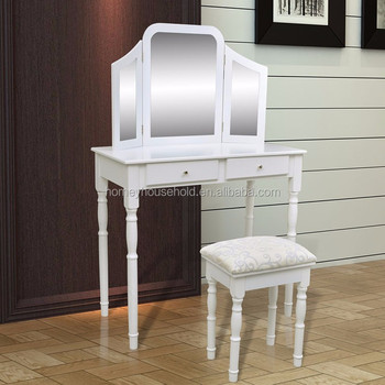 Italian Provincial Bedroom Furniture Set White Wooden Home Goods Dressing Table