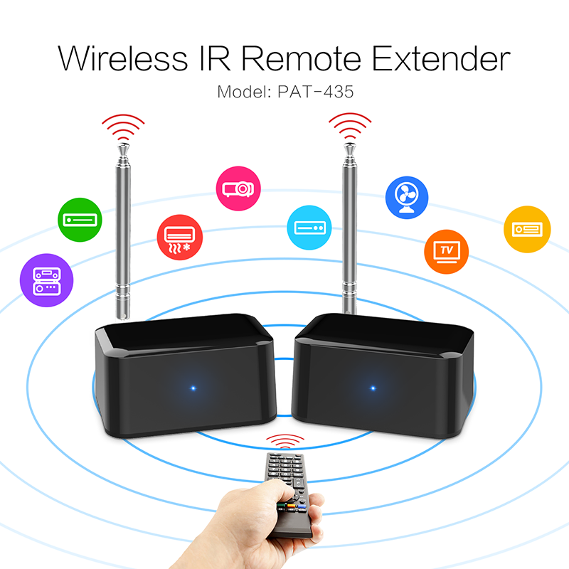 PAT-435 200m 433mhz Wireless IR Extender Repeater ir extender usb interface cable micro battery