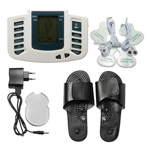 Electronic foot massage ems stimulator shoes electric physiotherapy acupuncture tens unit pulse massager with slippers