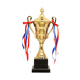 custom plastic sports trophy cup gold plated resin trophy