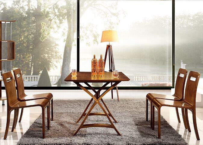 Speciale vintage ontwerp warp houten stoel eetkamer tafel stoel