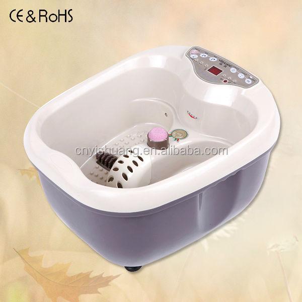 Foot Spa Bath Massager Pain Relief Water Home Bubble Heat Bubbles ...