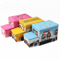 Mise Waterproof Cartoon Kids Car Storage Stool / Folding Storage Stool / School Bus Storage Ottoman