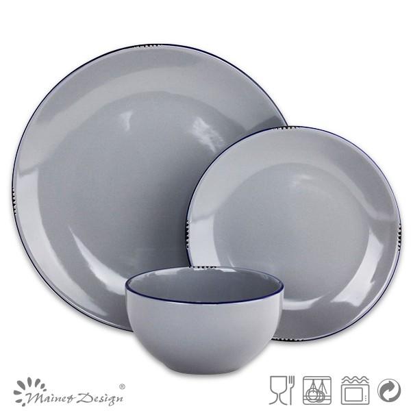 Keramik 20 Stück Geschirr Set Einfarbig 20 Stück Geschirr Set