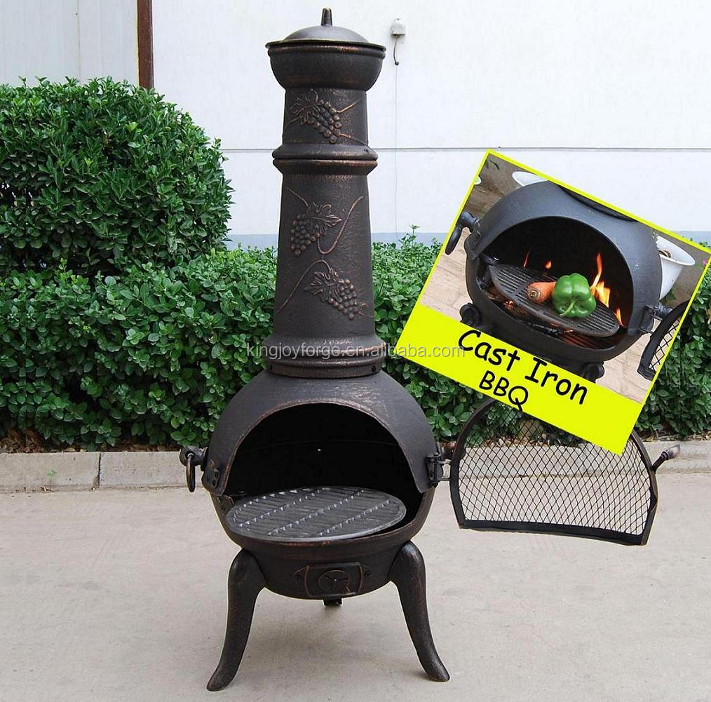 Delightful Cast Iron Pizza Oven Chiminea With Bbq Grill