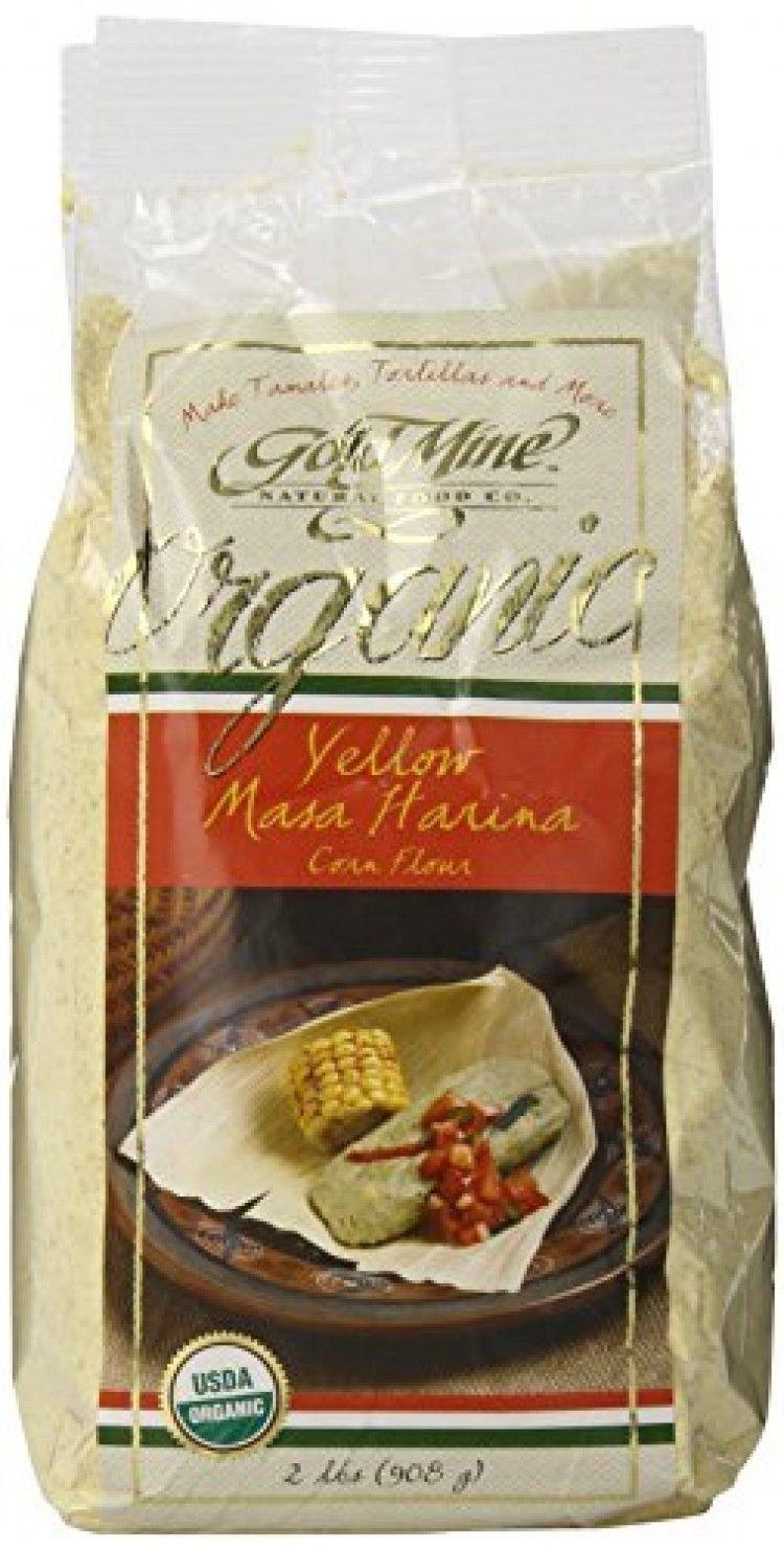 Gold Mine Organic Masa Harina Corn Flour; Yellow; 2 Pound; New; Free Shipping