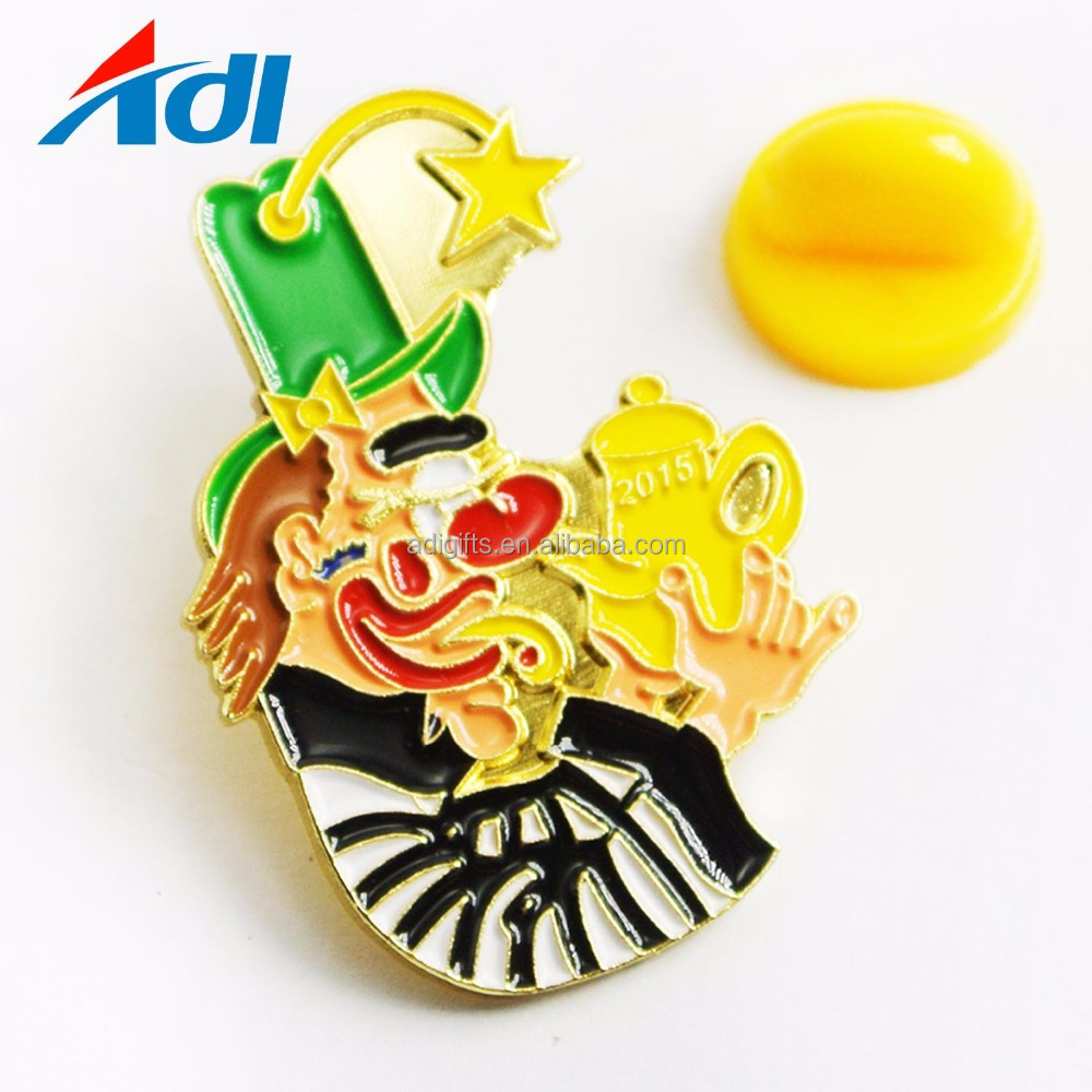 Custom Soft enamel metal pokemon souvenir badgesl lapel pins with rubber stamp