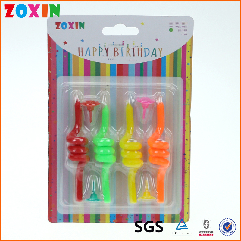 Cake decoration spiral coil birthday candle