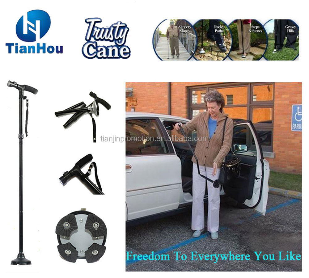Trusty Cane With Led Trusty Walking Cane,Telescoping Walking Canes,Retractable Aluminum Cane