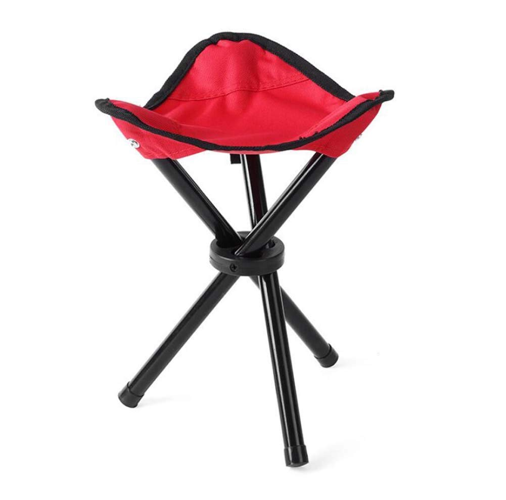portable folding chair Trumpet Three-legged Stool,Outdoor Folding Chair,Ultralight Portable Collapsible Camping Stool,Multifunctional Stool,Beach Fishing Chair Stool Park Outdoor Rest Furniture Conven