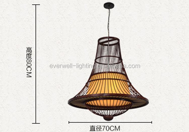Lampen Oosterse Stijl : Oosterse stijl handgemaakte lamp pure natuurlijke bamboe opknoping