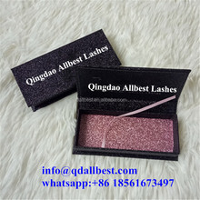 New Fashion Whole Custom Eyelash Box Packaging with Shiny Glitter Paper