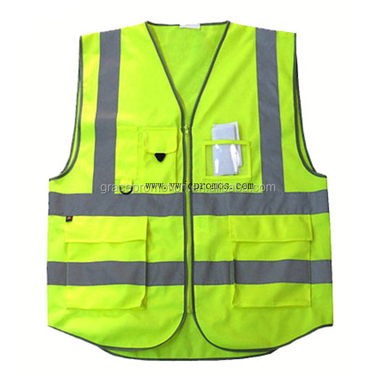 Wholesale customized logo printed reflective Safety Vest for advertising