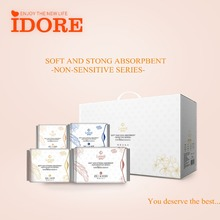 Idore brand wholesale sanitary pads/napkin with negative ion