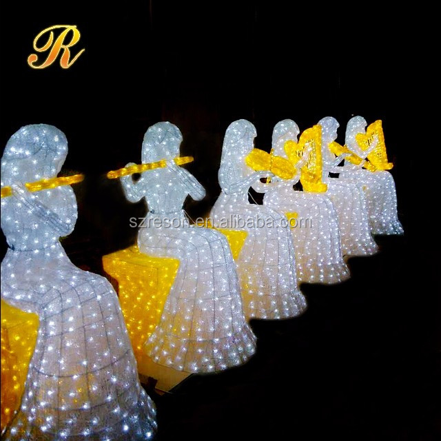 Christmas lighted ABS led sculpture christmas decoration