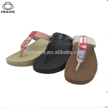776a082905e IRSOE SWEETIE TOE-POST ladies sandals and slippers with sugar-jelly jewels