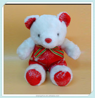 Custom stuffed red valentine teddy bear animal toy cute funny plush coloured