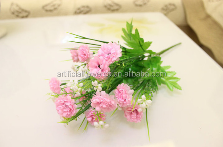 15 Heads Small Artificial Plastic Carnation Flower Bouquet For Sale ...