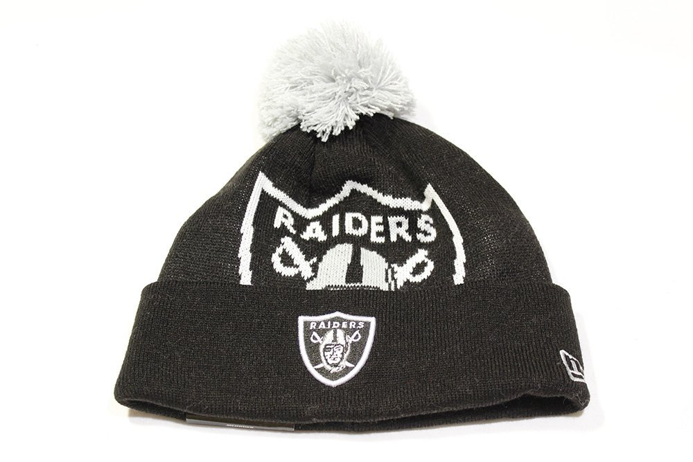 Buy New Era NFL Oakland Raiders Woven Biggie Cuffed Ski Hat Beanie ... 8d88998e5