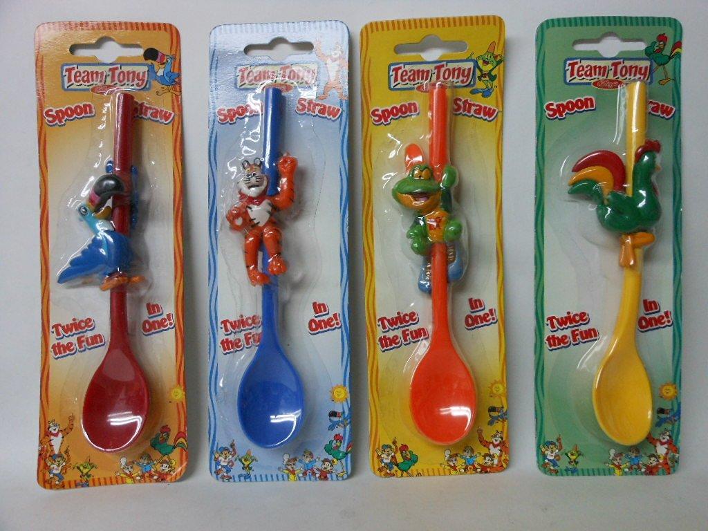Kellogg/'s Cereal Spoon Toucan Sam Dig Em Tony Tiger Snap Crackle Pop 1996 B10
