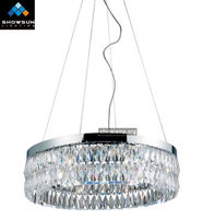 Chrome pendant crystal chandelier lamp