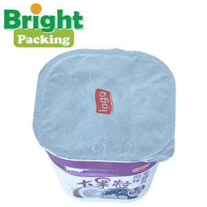 Plastic Yogurt Cup Aluminum Foil Lid Packaging Materials