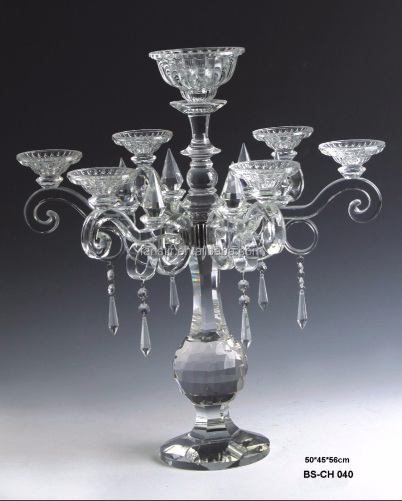 exquisite crystal candelabra centerpiece with flower bowl