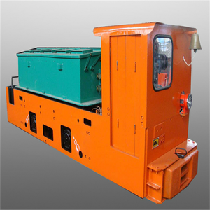 Diesel /electric railway locomotive for mining