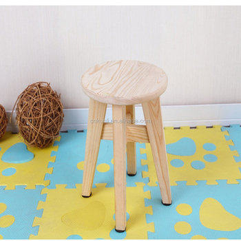 Superb Childrens Simple Environmental Protection Pinus Sylvestris Solid Wood Small Stool Home Backrest Small Bench Round Stool Buy Wooden Stool Wooden Uwap Interior Chair Design Uwaporg
