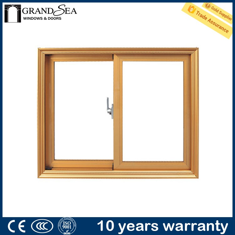 French style double glazed aluminium window with sub frame with guards