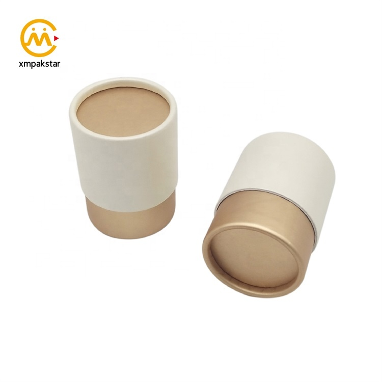 Customized printing food grade small cardboard aluminum foil powder tea packaging paper tube