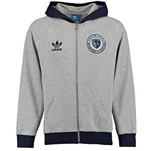 Adidas Sporting Kansas City Originals Full-Zip Hoodie (Gray)