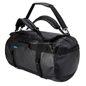60L Gym Duffle Bag for Men Sports Duffel Gear Bag Convertible to Backpack function made in Tarpaulin fabric