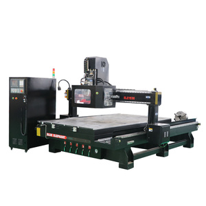High Speed Automatic tool change atc spindle cnc wood carving 4 axis router machine from Blue elephant