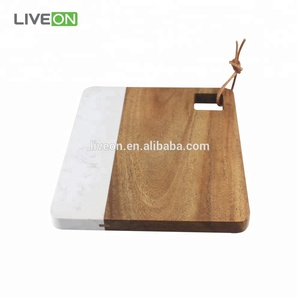 Marble Cutting Board With Acacia Wood