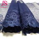 Professional Design dark navy blue lace trim border punch edging lace trim