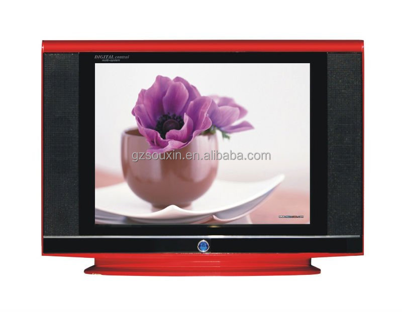 21 inch pure flat screen CRT TV with shine paint