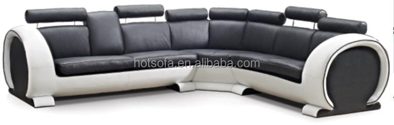 New Modern L Shaped Leather Sofa Set Design For Living Room Furniture