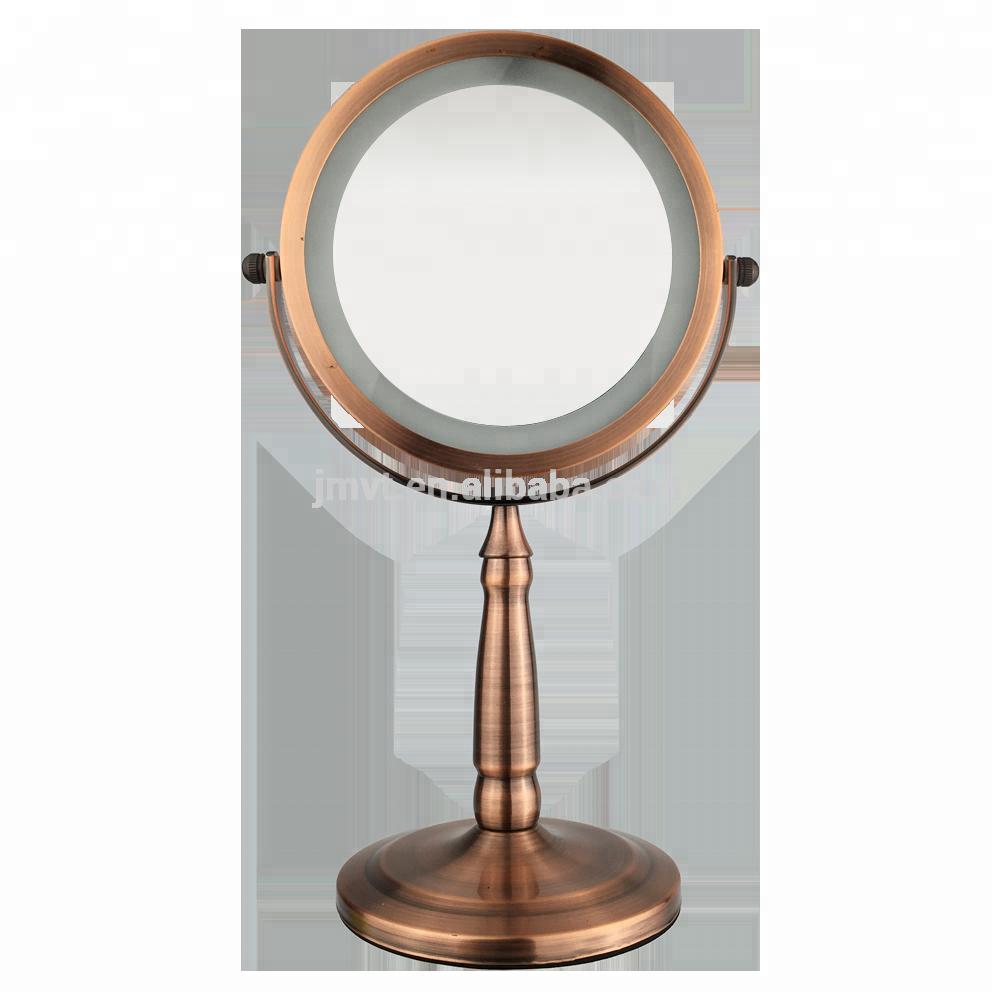Schminkspiegel Aus Dem Ausland Importiert Tragbare Led Make-up Spiegel 2x Vergrößerungs Folding Kosmetik Spiegel Led Bilden Spiegel