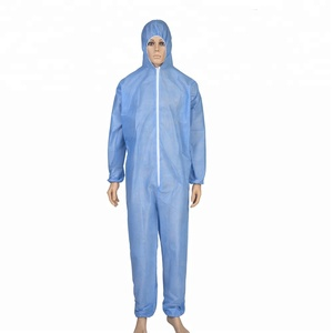 Used workwear coverall suit sms waterproof disposable coverall