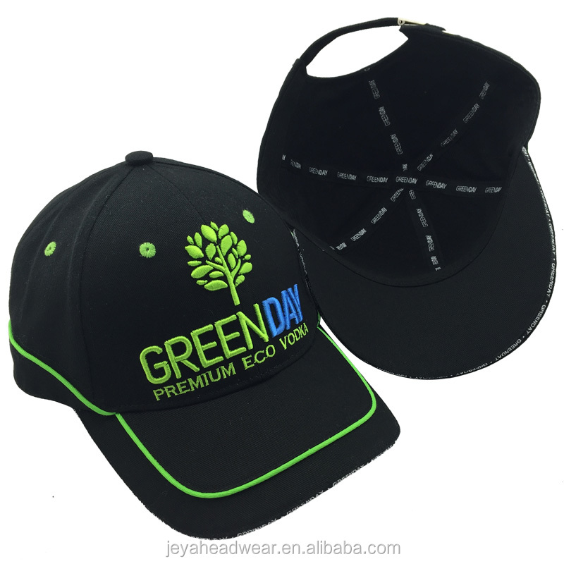 Customize Greenland cap hat inside tapes printing baseball cap back embossed greenday baseball cap hat