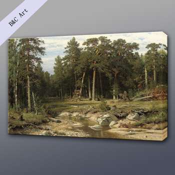 Handmade Natural Scenery Pine Forest The Vyatka Province Ivan ...