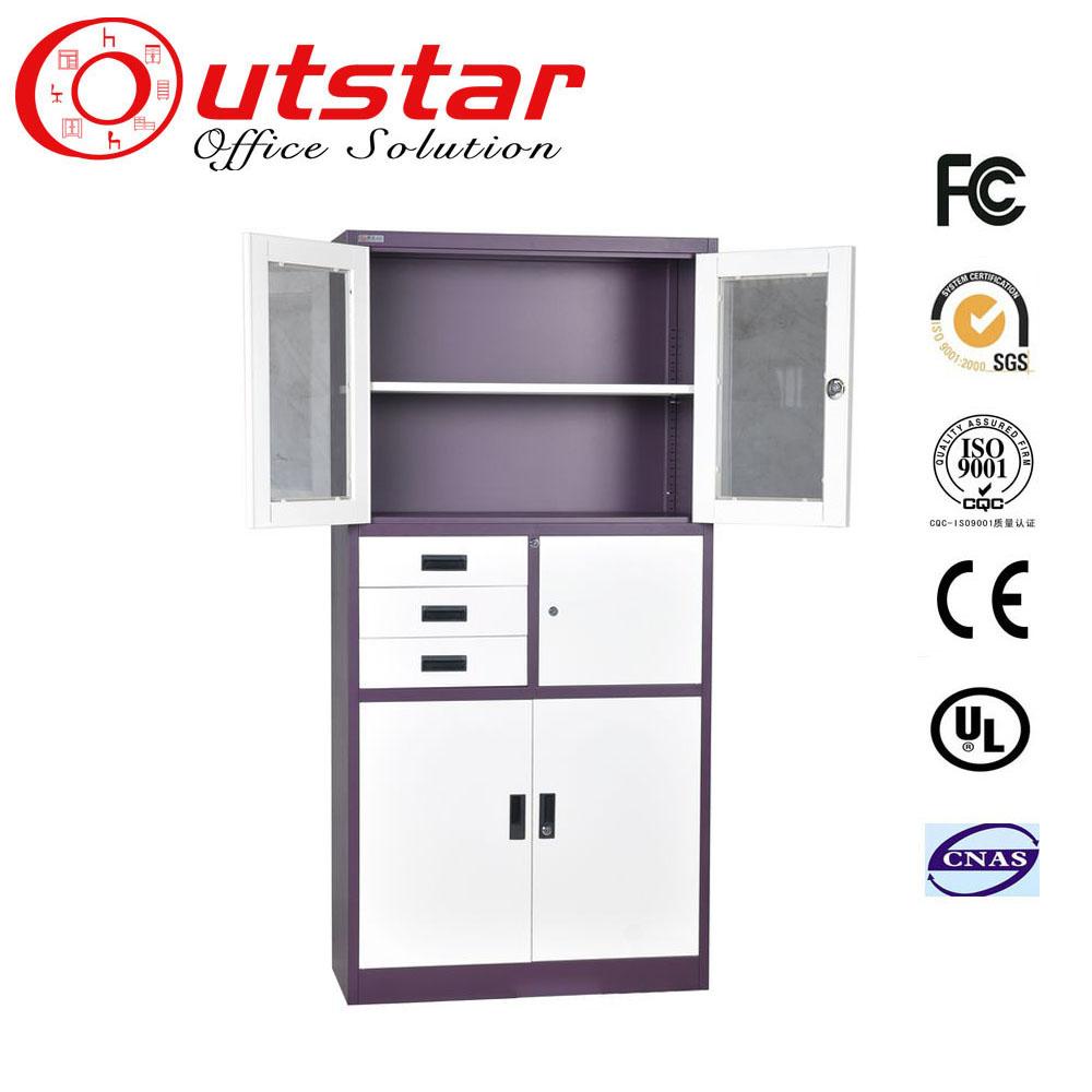 Knockdown Kitchen Cabinets: Large Metal Storage Cabinets Knock Down Glass Door Steel