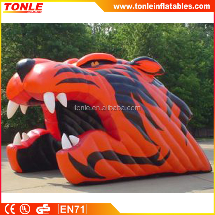 awesome Inflatable tiger head Tunnel, inflatable entrance tunnel, inflatable mascot tunnel for sale