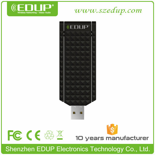 EDUP New Design High Gain 600Mbps AC Two Antenna Dual Band 2.4Ghz / 5Ghz USB Wifi Adapter