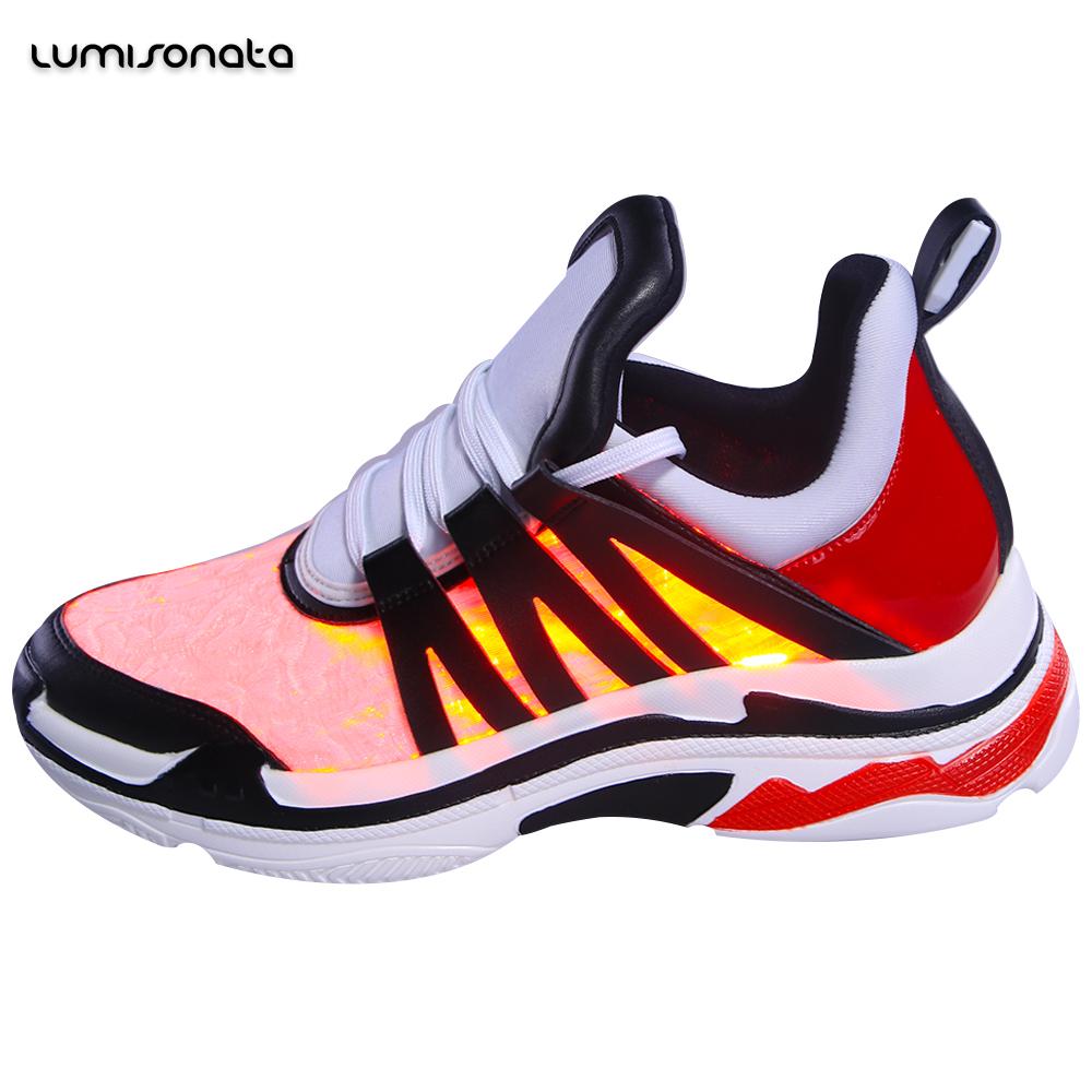 gros chaussures Factory Light Glowing Led Custom 7 couleur Running jusqu'à wOqvwxT1gW